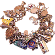 REDUCED Vintage Loaded Sterling Charm Bracelet 41 Charms