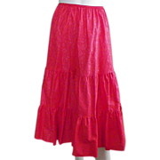 REDUCED Vintage Three Tiered Red Half Slip Petticoat 8 Gore By Deena