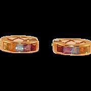 REDUCED Alwand Vahan Multi Gemstone 14K Gold Earrings