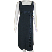 REDUCED 1970's Wool Classic Little Black Dress By Larry Aldrich Never Worn With Tags