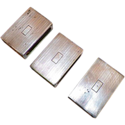 REDUCED Set Of Three English Sterling Match Boxes