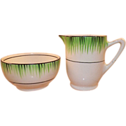 REDUCED 1930's T.G. Green and Co. England Grassmere Pattern Creamer and Sugar