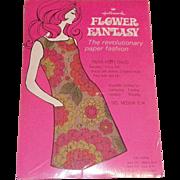 REDUCED Vintage NOS 1960's Flower Fantasy Paper Dress In Original Packaging
