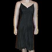1950's Pauline Trigere Black Full Slip