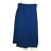 Vintage 1960's Jaeger Of Great Britain Navy Blue Skirt