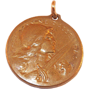 French Bronze Verdun Medal World War I Designed By S.E. Vernier
