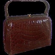 Vintage Brown Alligator Purse