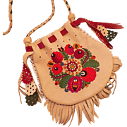 Vintage Hungarian Matyo Embroidered Purse