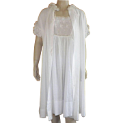 Vintage White  Peignoir Set By Iris
