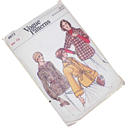 Vintage 1970's Vogue Pattern Shirt Jacket Uncut