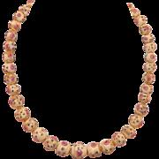 Vintage Italian Wedding Cake Bead Necklace