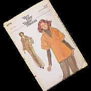 Vintage 1970's Vogue Pattern For Top and Pants Uncut