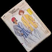 Vintage 1960's Vogue Pattern For Misses' Knit Jacket Uncut Size 12