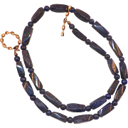 Vintage Lapis Beaded Necklace