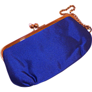 Vintage Morris Moskowitz Evening Satin Bracelet Purse