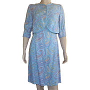 Vintage Peck and Peck Paisley Linen Dress With Short Jacket