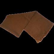 Vintage 100% Cashmere Scarf Made In England Camel Color
