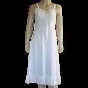 Vintage Cotton Blend White Full Slip