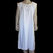 Victorian White Heavy Cotton Nightgown Size XL