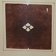 Japanese Taisho Period Katagami Coat Of Arms