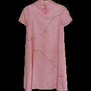 1970's Peach Linen Bill Blass A-Line Dress Size 4