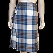 REDUCED Vintage James Pringle Inverness Scotland Wool Tartan Plaid Pleated Skirt