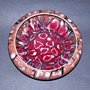 REDUCED Czech Coronet Registered Mottled  Art Pottery Bowl