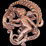 REDUCED Cini Sterling Cherub Zodiac Pin Virgo