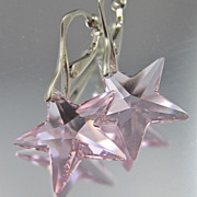 Clip On Earrings ~ STARZ ABOVE ~ Swarovski Crystal, Sterling Silver