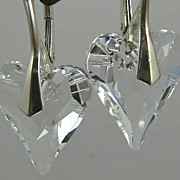REDUCED Earrings ~ PURE HEART ~ Swarovski & Crystal