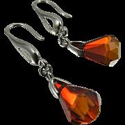 Drop Earrings ~ THE RAIN IN SPAIN ~ Swarovski Crystal, Sterling