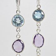 SOLD Earrings ~ SPRING SORBET ~ A trio of lollipop gemstones