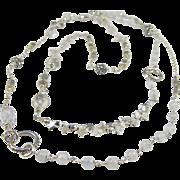 SALE PENDING Long Necklace ~ MOONLIT CAROUSEL ~ Moonstone, Crystal Quartz, Sterling Silver