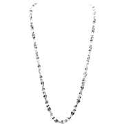 "Boucher Signed Faceted Crystal Necklace – Rhinestone Clasp – 34""long"