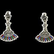 Castlecliff Larry Vrba Earrings Pre-Columbian Collection – Aztec – early 70s