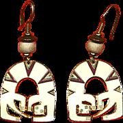 Laurel Burch 'Lizard Spirit' Dangle Earrings – Cloisonné Enamel