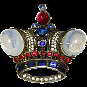SALE Trifari King Crown Sterling Brooch – 1944 – Alfred Philippe – Brunialti Book Piece
