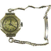 SALE Art Deco Manual Wind 16 Jewel 19K GF Swiss Watch-Works
