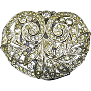 Trifari 'KTF' signed Art Deco Dress Clip – 1930s