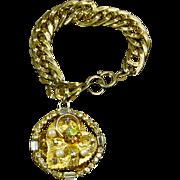 Bold Charm Bracelet – Rhinestones – likely Coro – 50s