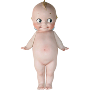 "SOLD Large 9.5"" Rose O'Neill All Bisque Kewpie"
