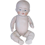 "Large 6 1/2"" All Bisque Made in Japan BABY DOLL"