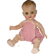 """1950s Madame Alexander Vinyl 12"""" Baby Doll KATHY With Original Outfit"""