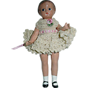"""Vintage 1930s Composition 5.5"""" Effanbee Wee Patsy Doll"""