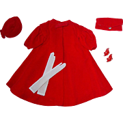 Vintage 1962-65 Barbie Fashion #939 RED FLARE Complete
