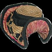 Antique French Bebe Straw Hat ~ Rare ~ Hello Goodbye Hat