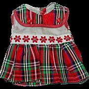 Vintage R & B Arranbee Littlest Angel Outfit ~ Plaid Dress ~ February