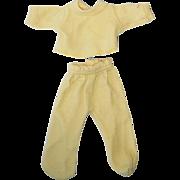 Vintage R & B Arranbee Littlest Angel Yellow Sleeper Set PJs