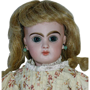 "Rare Antique 13"" Tete Jumeau Walking Doll Closed Mouth Size 2"