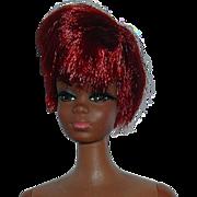 Vintage Twist N Turn Black Julia Doll W/ Shiny Red Hair